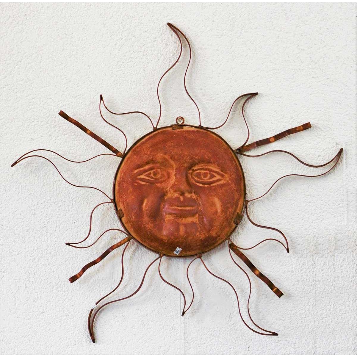 Soleil métal décoration murale