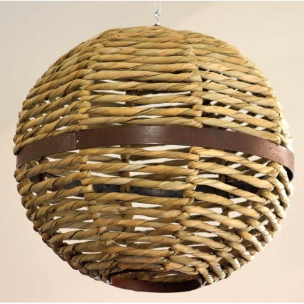 Grand lustre boule suspendue