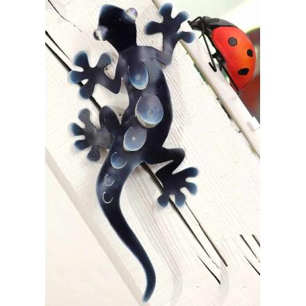 Salamandre décorative en métal