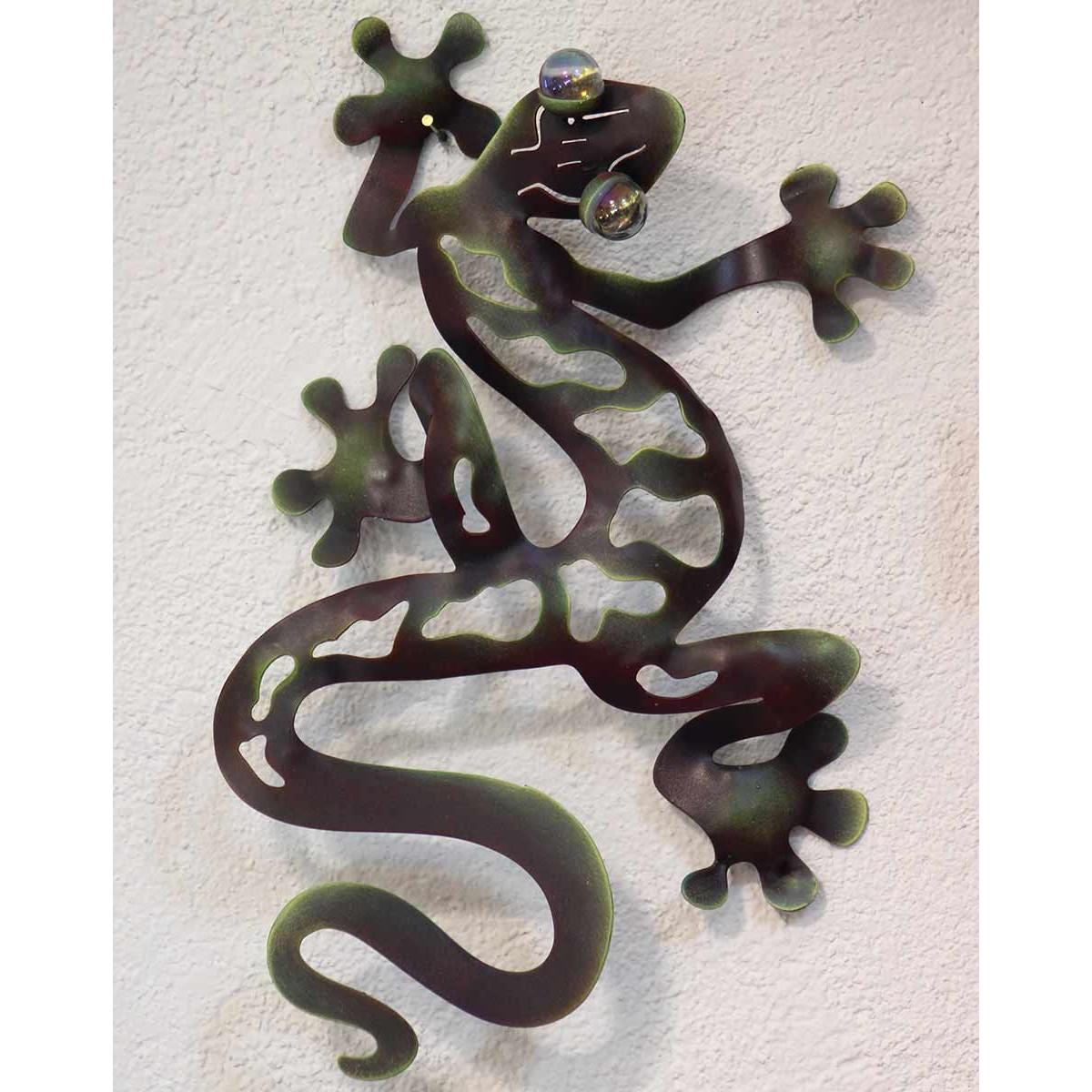 Salamandre Déco Mur En Intérieure Et Extérieure Gecko En Métal