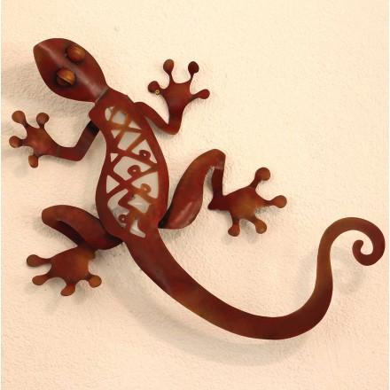 Salamandre en métal applique murale