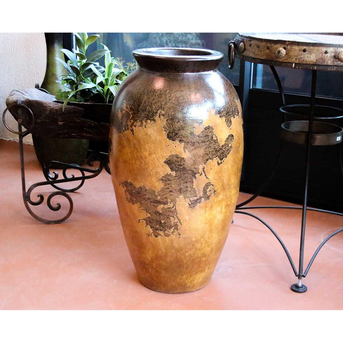 jarre poterie en terre cuite d coration d 39 int rieur patine. Black Bedroom Furniture Sets. Home Design Ideas