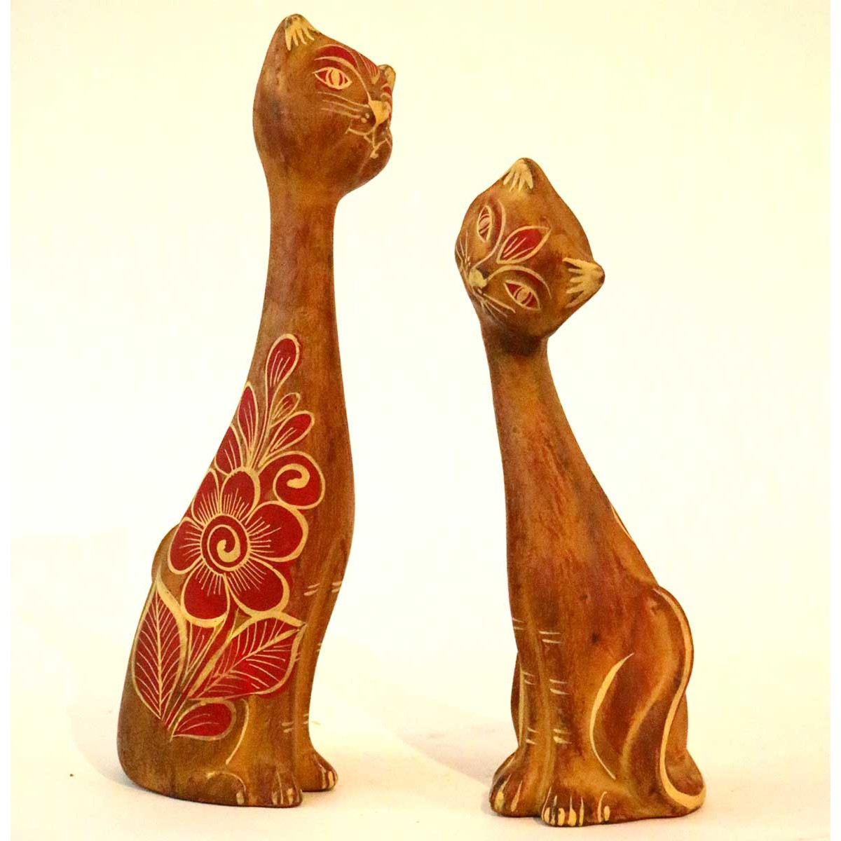 Chat statue terre cuite