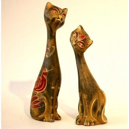 Chats en terre cuite