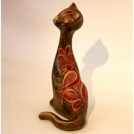 Chats terre cuite statues