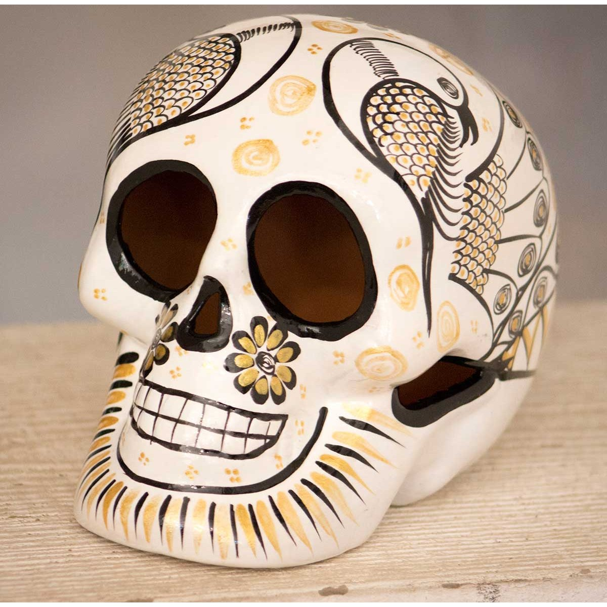 tête de mort en céramique