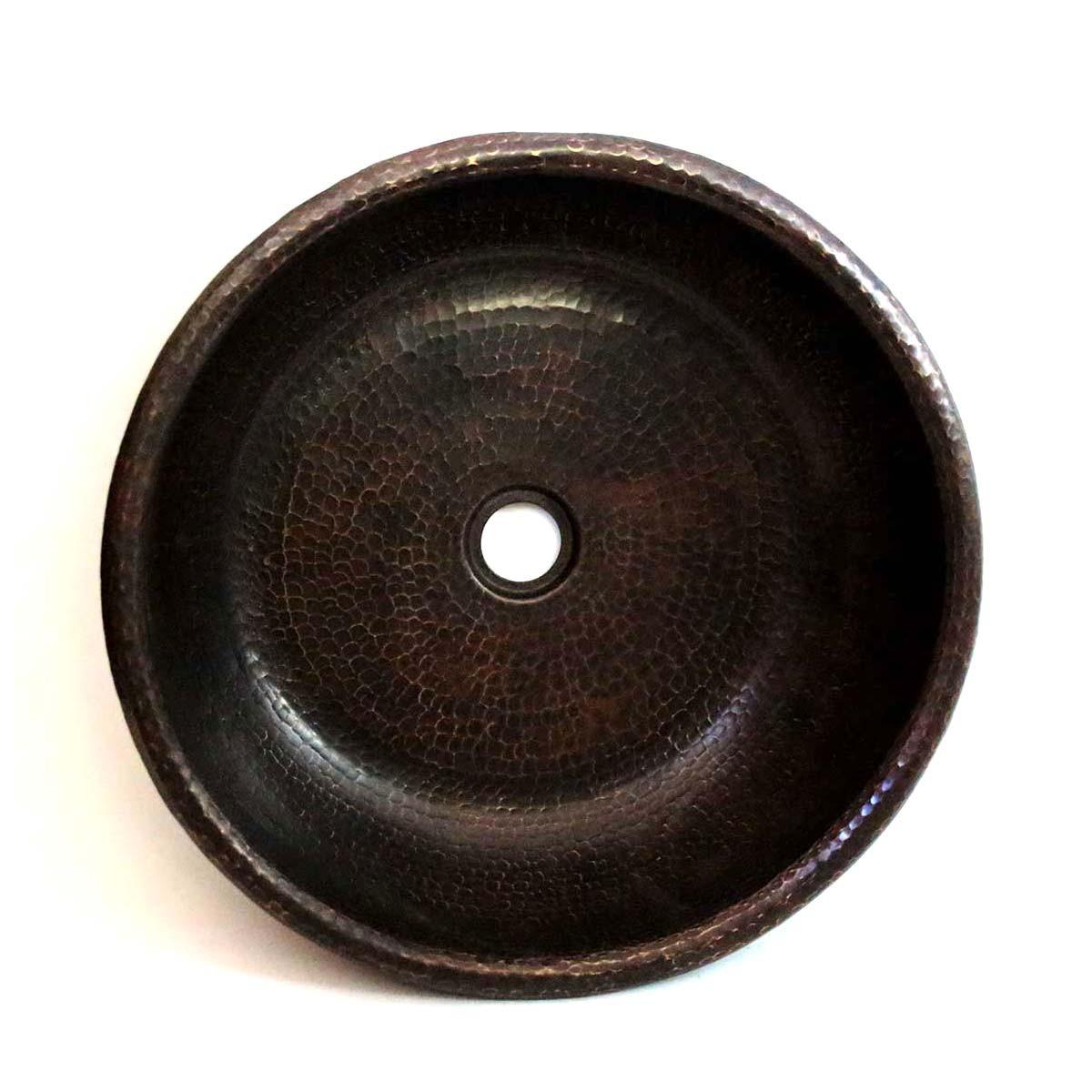 Vasque En Cuivre lavabo rond en cuivre à poser un style moderne, unique et chaleureux