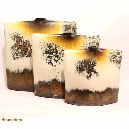 Vase carré terre cuite déco intérieure