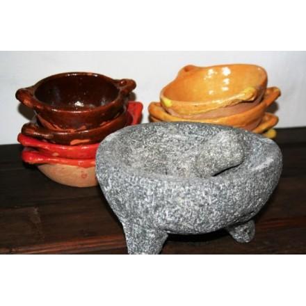 Mortier mexicain en pierre