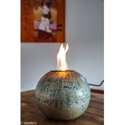 Lampe à l'éthanol argent