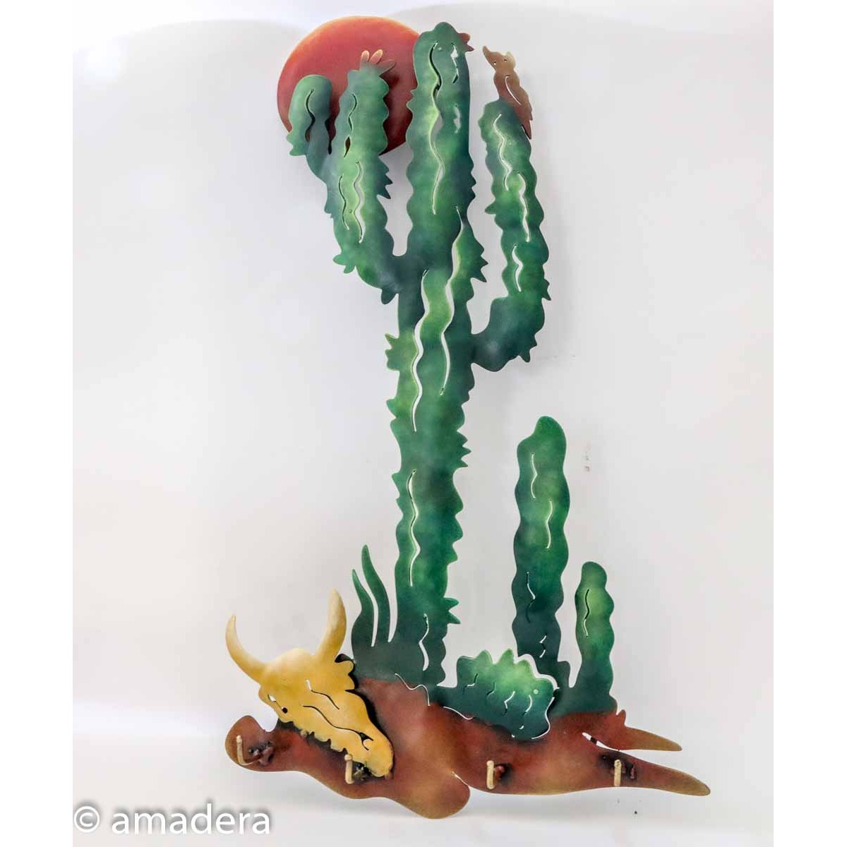 Cactus en métal déco murale