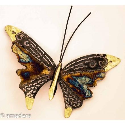 Papillon déco en métal et cuivre
