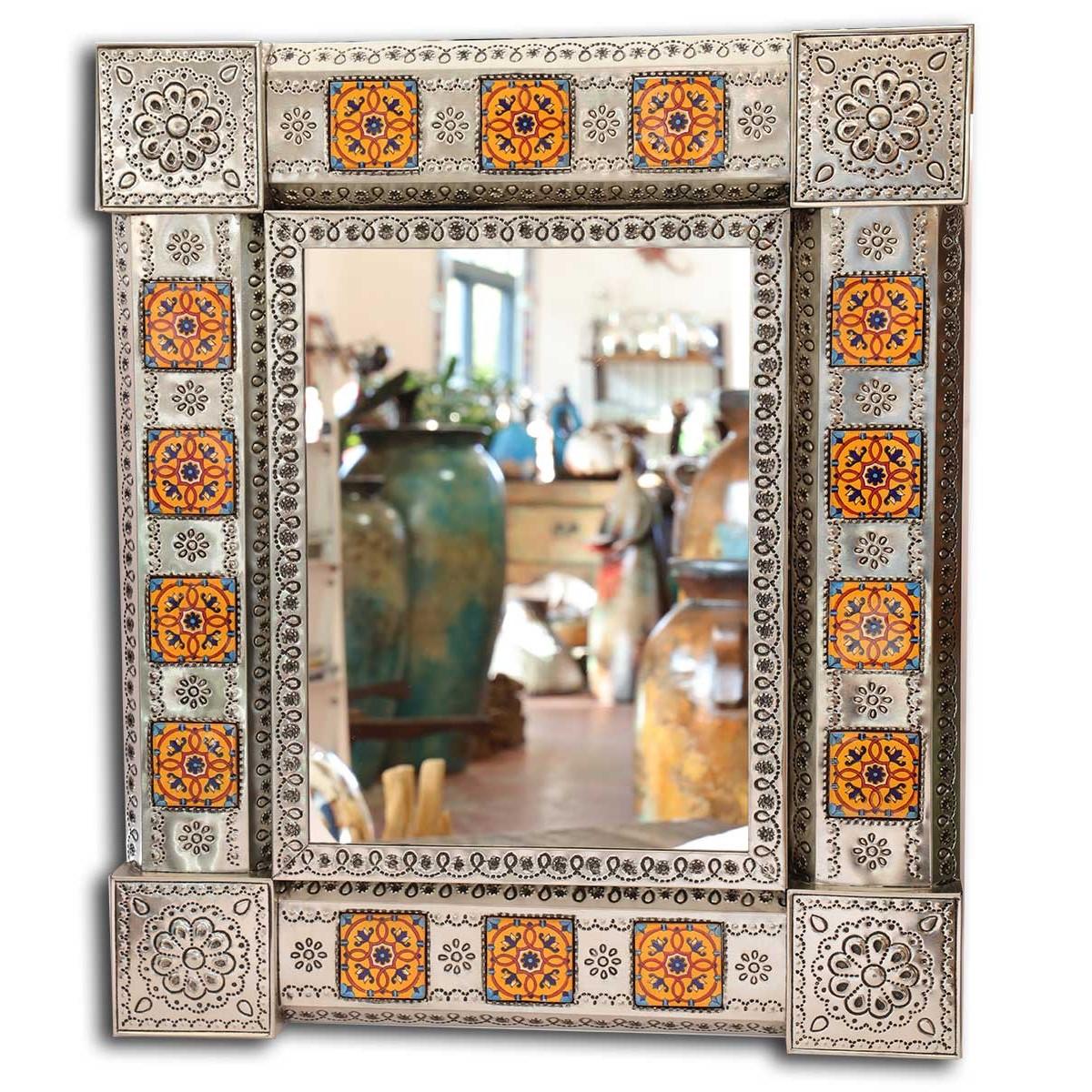 Grand miroir mexicain deco murale