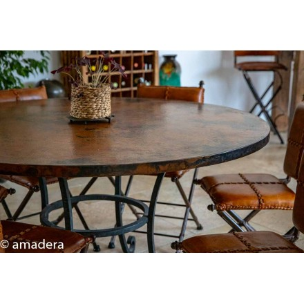 Table salle à manger en cuivre