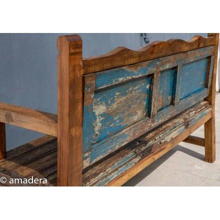 Grand banc bois ancien recyclé