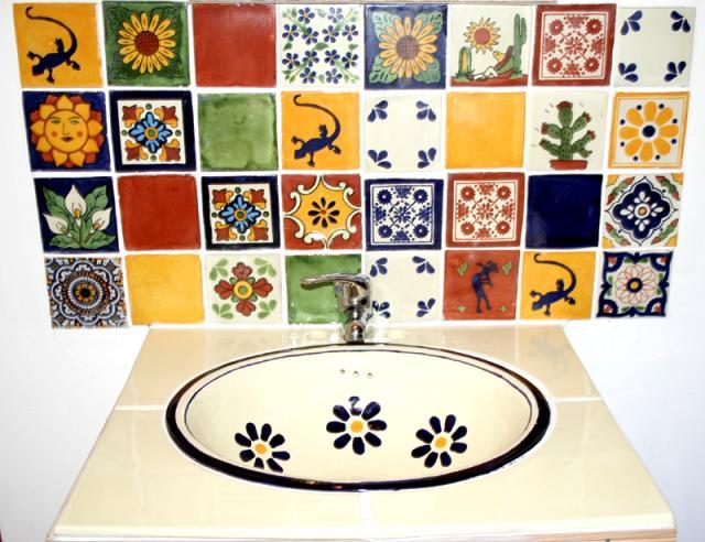 Carrelage mexicain tendance d co tuiles c ramiques for Carrelage colore cuisine