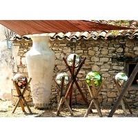 Boules en verre soufflé décoration de jardin