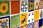Carrelage mexicain azulejos faïence murale lumineuse