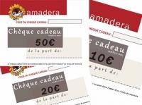 Le chèque cadeau disponible chez amadera